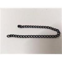 14cm Kettenstück schwarz-silber