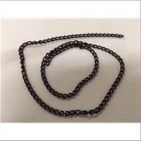 45cm Kettenstück schwarz-silber