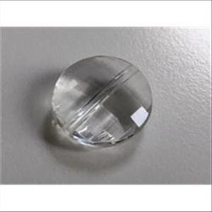 1 Acrylperle flach-rund transparent
