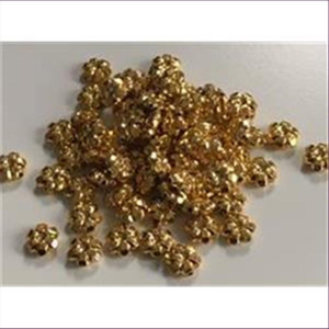 75 Acrylperlen Blumen gold