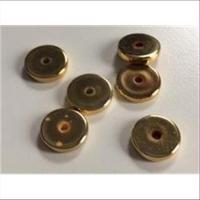6 Acrylperlen Scheiben gold