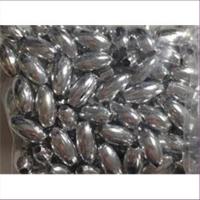 7gr. Acrylperlen Oliven 7x4mm silber