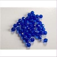 45 Acrylperlen Facettenperlen blau 4mm