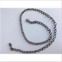 1 Kette Kettenstück 30-31cm gunmetall