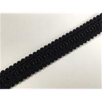 1m Brokatborte geflochten schwarz