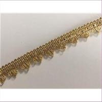 1m BrokatborteMini-Schlaufen gold