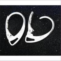2 Ohrhaken Ohrbrisuren ovale Klappbrisuren Silber