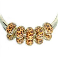 1 Beads Fädelperle Leopard