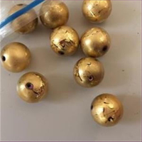 1 Acrylperle gold 17,8mm