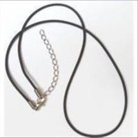 2 Halsketten Kautschuk 1,0mm