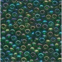 20gr.  Rocailles dunkelgrün rainbow