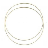 1 Halsreifen 1reihig mit Steckverschluss gold