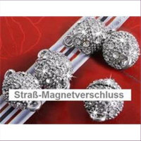 1 Magnetverschluss  m. Strass 10mm