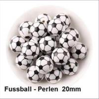 1 Acrylperle Fussball 20mm