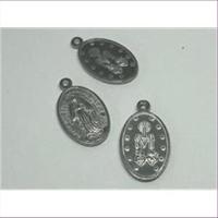 10 Anhänger oval Madonna Maria