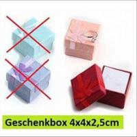1 Geschenkbox Ringschachtel 4x4x2,5cm
