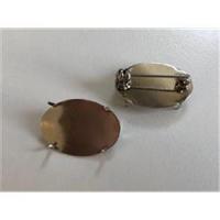 1 Broschenplatte oval 24x17mm