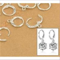 2 Ohrhaken Mini-Ohrcreolen Silber