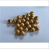 24 Acrylperlen seidenmatt gold 5mm