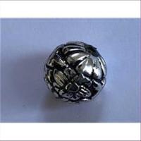 1 Acrylperle rund antiksilber