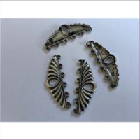 2 Collierteile Bandenden antiksilber