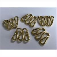 5 Schlaufenteile Zwischenteile gold