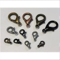 10 Carabiner 10mm altmessing