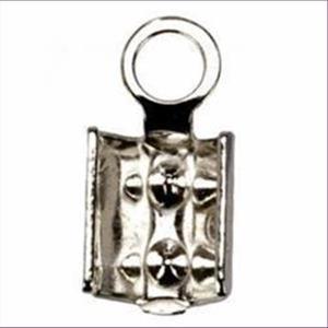 1 Endteil zum Quetschen 3mm 925 echt Silber