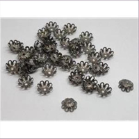 50 Perlkappel antiksilber