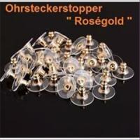 50 Stück  Ohrsteckerstopper Flügel Rosegold