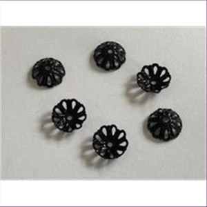 10 Perlkappen schwarz