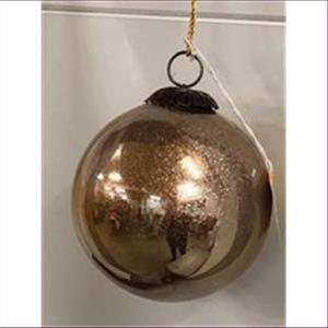 1 Dekokugel Weihnachtskugel gold Glitzer