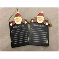 1 Wunschzettel Holz Santa