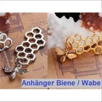 1 Anhänger Biene / Wabe