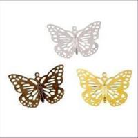 1 Anhänger Filigran-Schmetterling 35x51mm