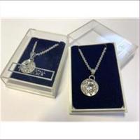 1 Halskette mit Anhänger echt Silber Bergkristall