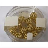 6 Filigranperlen 6mm goldfarbig