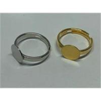 1 Fingerring mit runder Klebeplatte 10mm