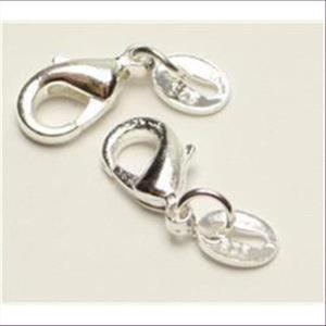1 Carabiner bauchig Silber