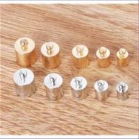 10 Endkappen zum Einkleben 4-8mm