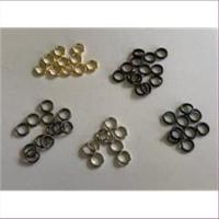 100 runde Ringe Spaltringe 6mm