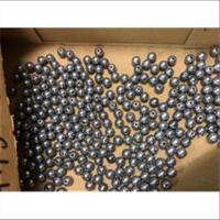 10 Holzperlen 8mm metallic silbergrau