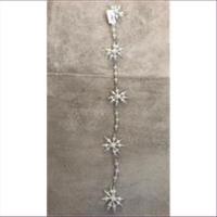 1 Aufhänger Acrylgirlande Schneeflocken Sterne