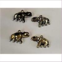 10 Anhänger Elefant