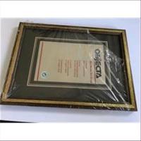 1 Bilderrahmen Holz 20x14,5cm gold
