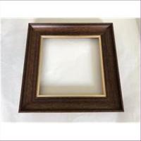 1 Bilderrahmen Holz braun-gold