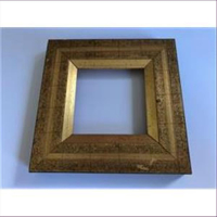 1 Bilderrahmen Holz 13,5x13,5cm gold