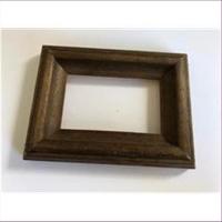 1 Bilderrahmen Holz 13x9,5cm braun