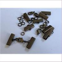 5 Endteile Bandenden montiert 12mm altgold