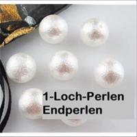 10 Halblochperlen 1-Loch-Perlen gemustert
